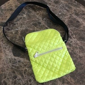 CLARKS HIGHLIGHTER YELLOW QUILTED CROSSBODY